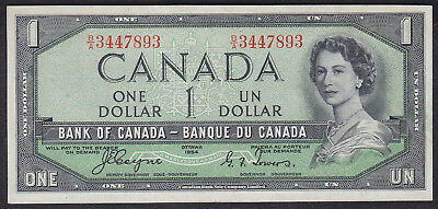 1954 Canada 1 Dollar Devil Face Bank Note Coyne/tower