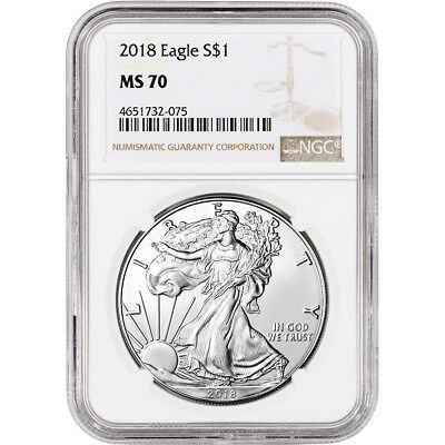 2018 American Silver Eagle - NGC MS70