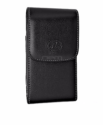 AT&T LG Phones Vertical Leather Carrying Case w/ Swivel Belt Clip