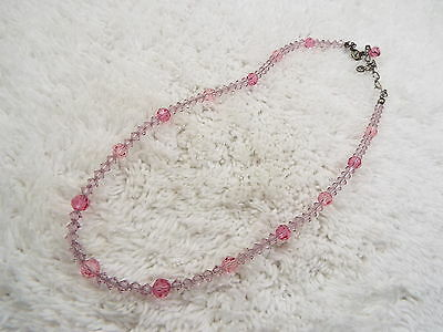 Pink Crystal Bead Necklace (D60)