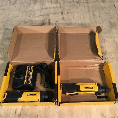 (2) DEWALT DCF682N1 8-Volt Cordless Gyroscopic Screwdrivers & Charger TOOLS ONLY