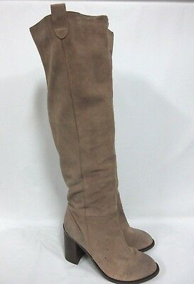 c65760bf45d Kelsi Dagger Brooklyn Harman Over the Knee Taupe Suede Boots Size 11