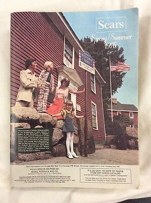 Vintage Sears 1976 Spring & Summer Fashion Catalogue Color Photos home Goods