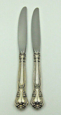 """Set of 2 Gorham 'Chantilly' Sterling Handle Place Dinner Knife - 9 1/4"""" -No Mono"""