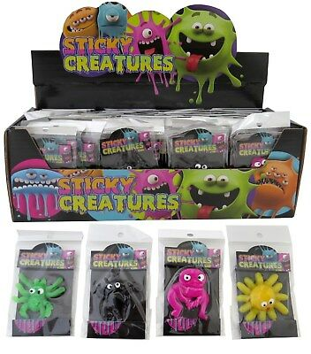 Bulk Lot 10 Mixed Coloured Sticky Creatures Toy Party Favor Loot Bag Novelty