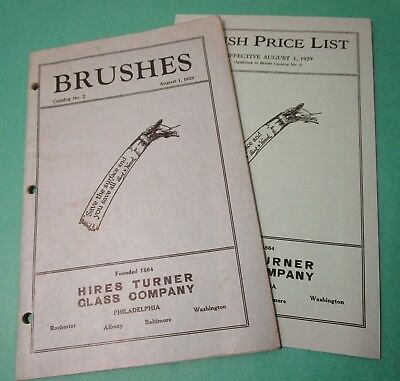 1929 HIRES TURNER GLASS CO Paint Brush Catalog Artist, Wall, Stippling