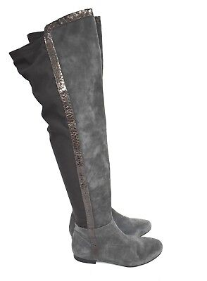 acd67d7b88b VINCE CAMUTO WOMEN S Coatia Suede Over-The-Knee Side-Zip Boots Black ...