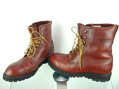 Eddie Bauer Gore Tex Steel Toe Boots Vibram Made In Usa Vtg Mens Size 11