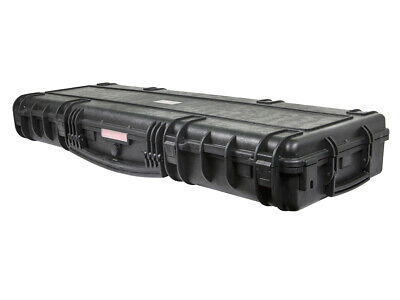 Weatherproof Hard Case with Wheels and Customizable Foam_ 47 x 16 x 6 in