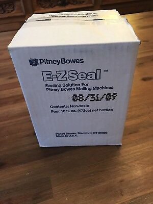 Pitney Bowes E-Z Seal Sealing Solution (4) 16oz bottles 601-0
