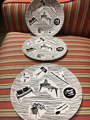 "Homemaker Ridgeway 8"" diameter plates x 3 , one earlier backstamp. All vgc"