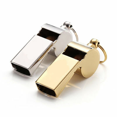 E11 2X Outside Camping Survival Rescue Metal Safe Emergency Whistle Referee M