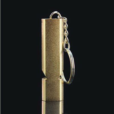 E03 1X Outside Camping Survival Rescue Stainless Steel Safe Emergency Whistle M