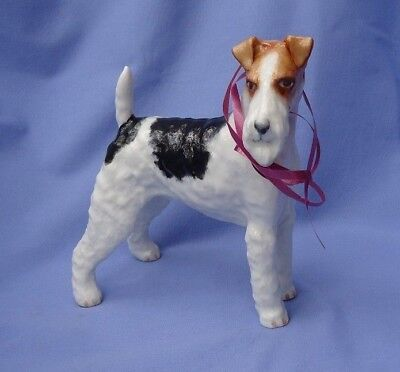"""8"""" WIRE HAIRED FOX TERRIER Boehm retired 1959  limited edition dog 1/150"""