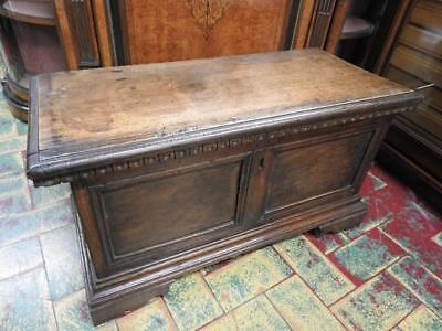 Antique And Rare Small Chest Walnut Solid Wood Period 700 Piedmont