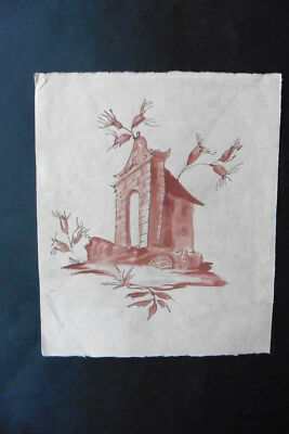 FRENCH SCHOOL 19thC - STUDY FOR A DECORATION - INK DRAWING