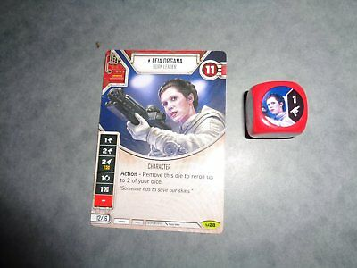 Star Wars Destiny Rare Leia Organa (Version Anglaise)