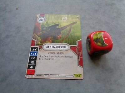 STAR WARS DESTINY RARE IQA-11 BLASTER RIFLE (version anglaise)