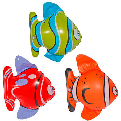 3 Inflatable Tropical Fish Party Bath Or Beach Fun