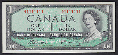1954 Canada 1 Dollar Bank Note Solid Radar Ky1111111