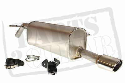 Peugeot 207cc 1.6 Vti 120 Bhp 5fw 06-09 Rear Exhaust Silencer Chrome Tail Pipe