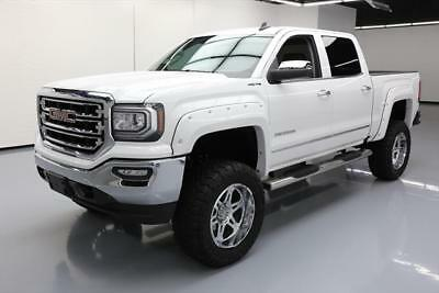 2017 GMC Sierra 1500 SLT Crew Cab Pickup 4-Door 2017 GMC SIERRA SLT CREW 4X4 LIFTED LEATHER 35'S 7K MI #176727 Texas Direct Auto