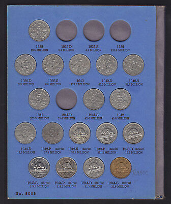1922-64 Canada 5 Cents Coin Collection Of 55 In Album