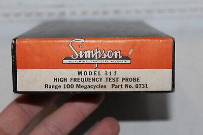 Vintage NOS Simpson Model 311 High Frequency Test Probe 100 Megacycles No. 0731