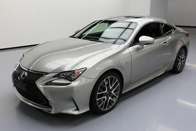 2015 Lexus RC  2015 LEXUS RC350 F SPORT SUNROOF NAV CLIMATE SEATS 30K #009833 Texas Direct Auto