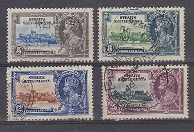 STRAITS SETTLEMENTS 213-216 Silver Jubilee set used