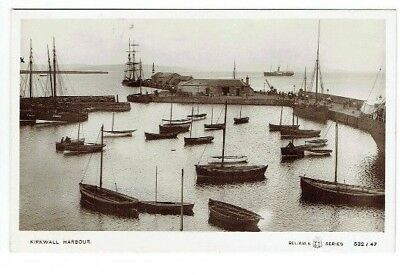 Old Postcard Kirkwall Harbour Orkney Scotland Reliable Series Real Photo C.1910