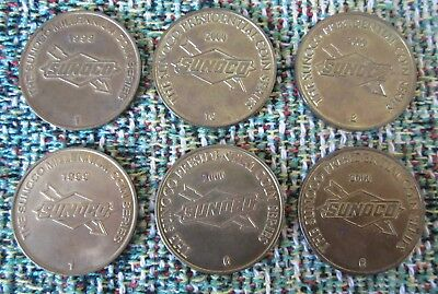 Sunoco Presidential & Columbus Discovers America Coin Series~Lot Of 6~