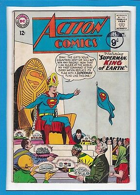 """Action Comics #311_April 196_Very Good/fine_""""superman,king Of Earth""""_Silver Age!"""