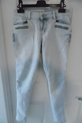 New Look Girls Light Blue Skinny Style Jeans Aged 12 Years Good Condition