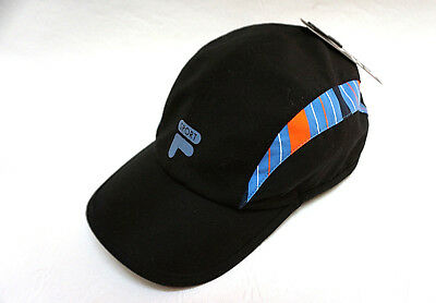 4ecabcaf987 Fila Sport womens Black Blue Adjustable Essential Baseball cap hat one size  NEW