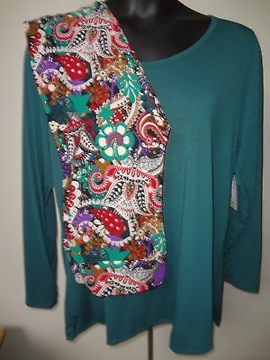 LuLaRoe Green Lynnae Blouse w/ Matching Paisley Leggings  Sz 3XL TC