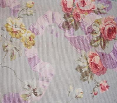 BEAUTIFUL GENTLY FADED 19th CENTURY FRENCH FLORAL COTTON, PROJECTS, REF