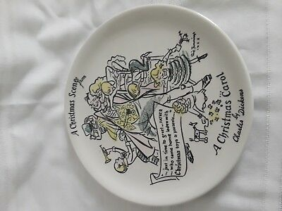 1955 Buffalo Pottery Christmas Plate Dicken's A Christmas Scene