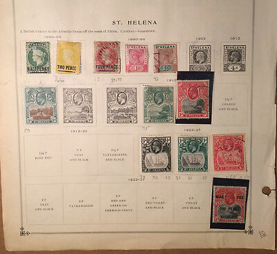 St. Helena Stamps Lot of 55 Used, Mint and Hinged stamps 1863 - Present