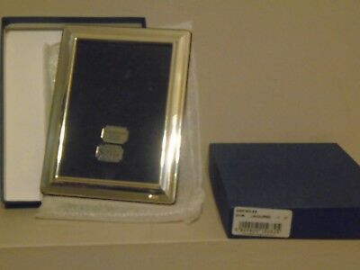 Lovely New & Box Unused Quality Wood Backed R Carr Hallmarked Silver Photo Frame