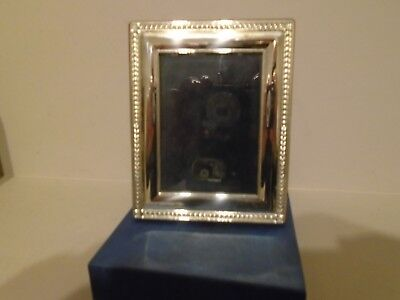New In Box R Carr Beautiful Quality  Hallmarked Silver Photo Frame  Wood Back