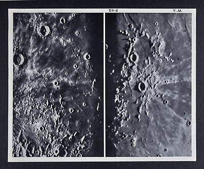 1960 Lunar Atlas Moon Map Photo Kepler E4-d Surface Craters McDonald & Yerkes Ob
