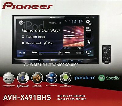 "NEW Pioneer AVH-X491BHS 2-DIN Bluetooth DVD/CD/AM/FM Car Stereo 7"" Display"