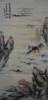 Fine Large Chinese Painting Signed Master Bai Xueshi No Reserve Unframed A8939
