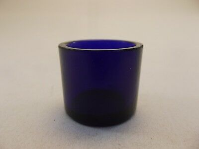 Cobalt Blue Glass Liner (GL16) Replacement Silver Mustard Pot - Vintage Bristol