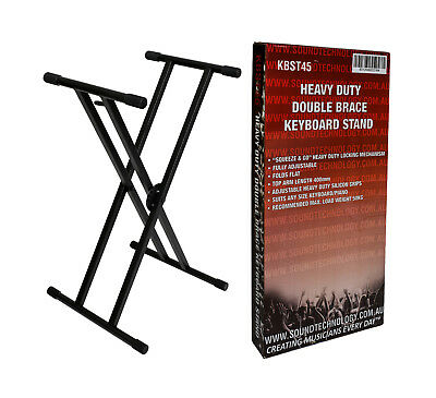 PROFESSIONAL double braced keyboard stand by CASIO holds 50kgs squeeze n go