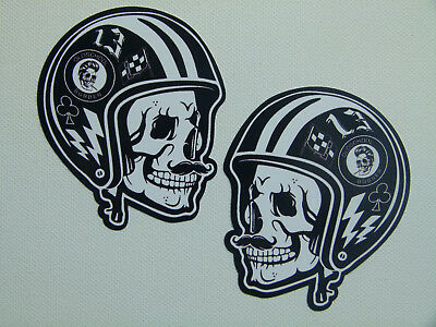 2 Oldschool Sticker Gentlemen Biker Bobber Aufkleber Route 66 Harley Chopper USA
