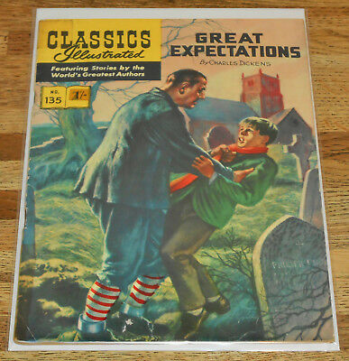 CLASSICS ILLUSTRATED no.135 GREAT EXPECTATIONS rare UK ONLY cover 1st Ed 1962