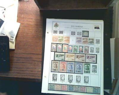 San Marino Collection On Album Pages, Both Mint An Used