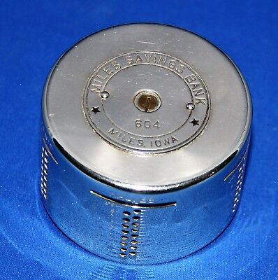 Vintage Automatic Recording Safe Co Coin Bank - Miles Savings Bank - Miles, IA